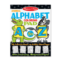 Animal Alphabet Coloring Pad
