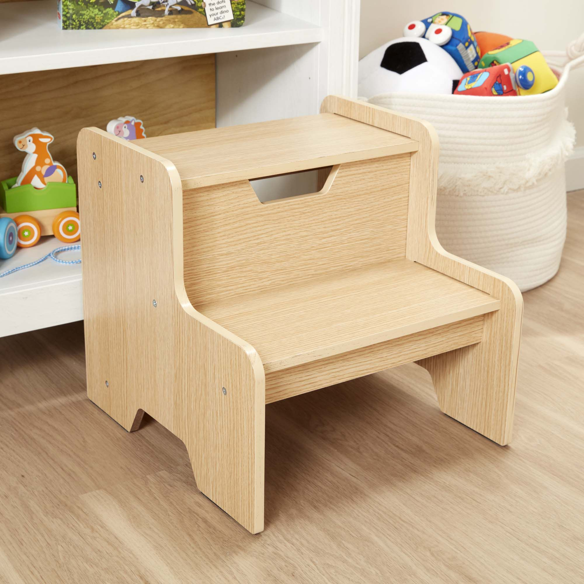 Personalized Cars and Trucks Natural Two Step Stool