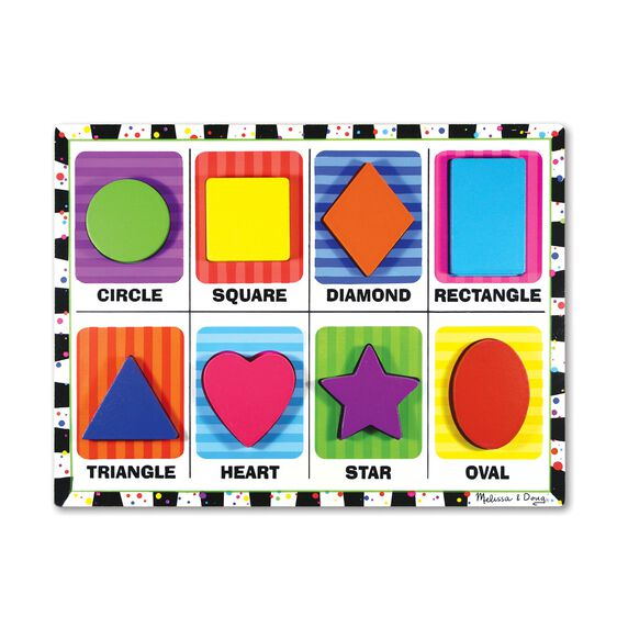 Eight piece shapes chunky puzzle