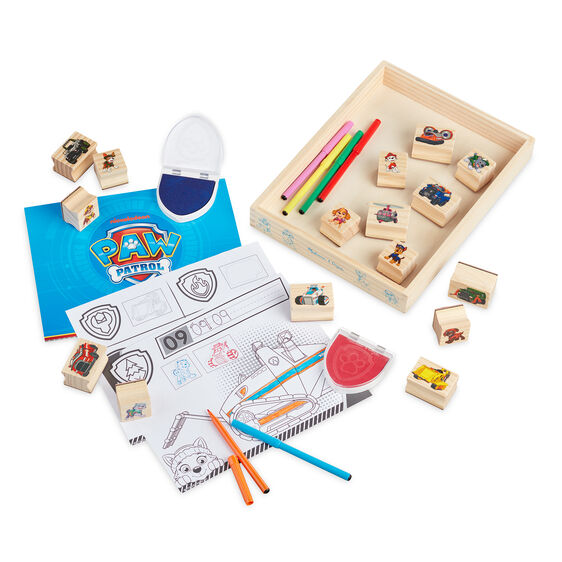 PAW Patrol Wooden Stamps Activity Set