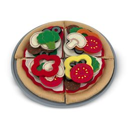 Felt pizza with toppings