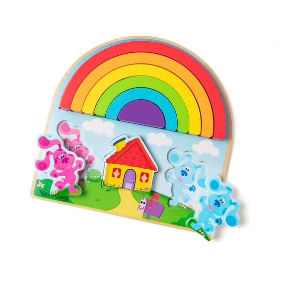 Blue's Clues & You! Wooden Rainbow Stacker Puzzle - 9 Pieces