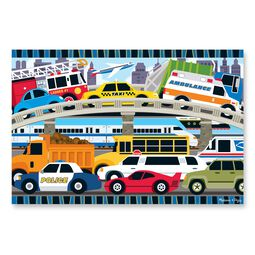 24 piece traffic jam floor puzzle