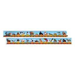28 piece alphabet train floor puzzle with various animals