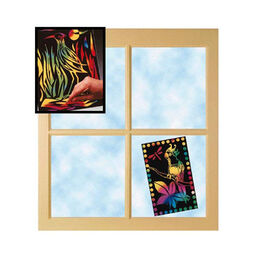 """Scratch Art Scratch Lite """"Stained Glass"""" (30 sheets)"""
