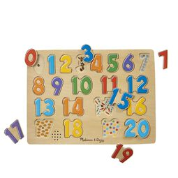 21 piece numbers peg puzzle