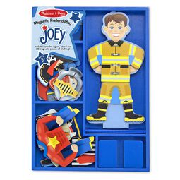 Wooden magnetic dress up set in packaging