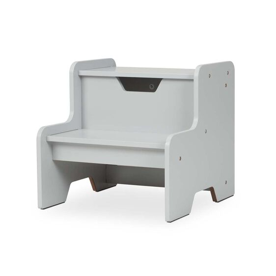 Wooden Step Stool - Gray