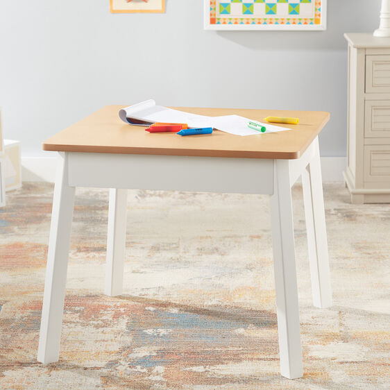 Wooden Square Table (white/natural)