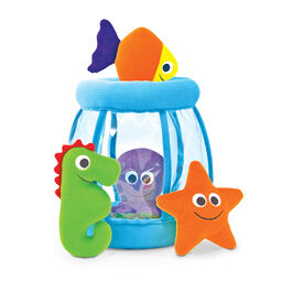 Plush fishbowl with sea animals