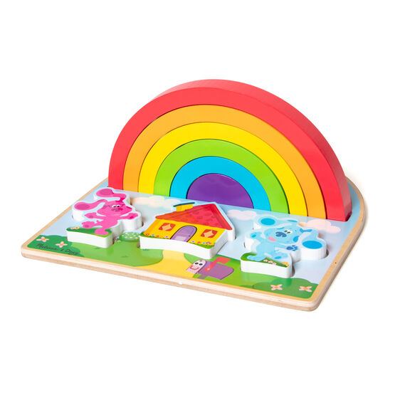 Blues Clues & You! Wooden Rainbow Stacker Puzzle - 9 Pieces