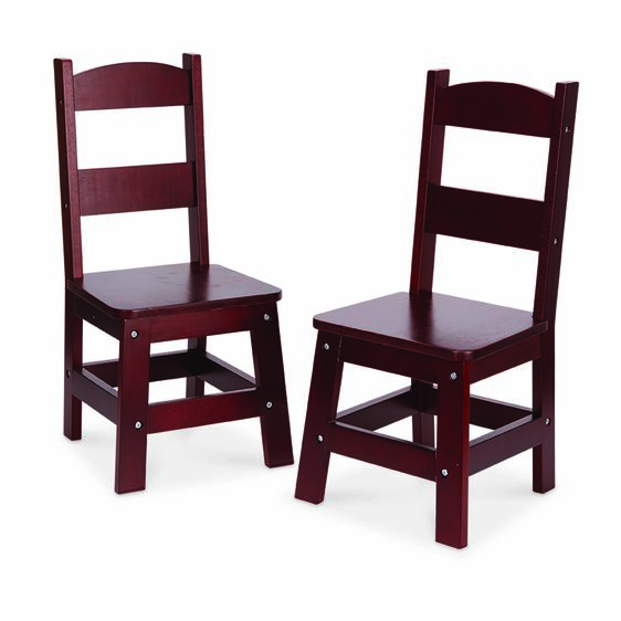 Two dark brown chairs
