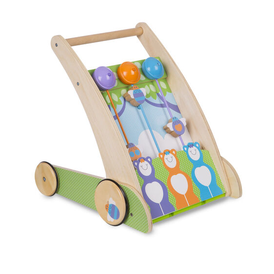 First Play Wooden Ring and Ding Forest Friends Push Toy