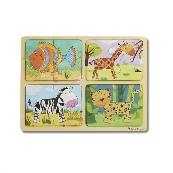 Natural Play Wooden Puzzle: Animal Patterns