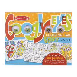 Googly Eyes Coloring Pad - Goofy Monsters