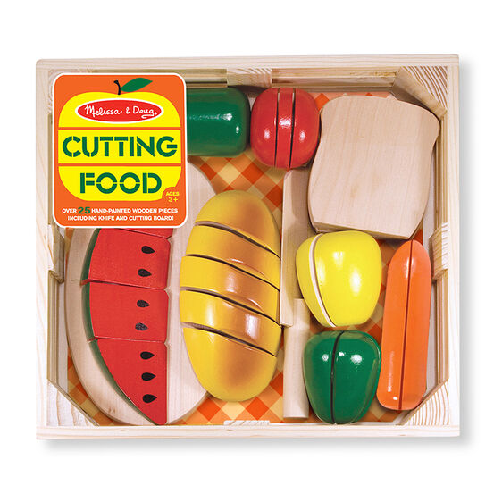 Cutting Food Wooden Play Food