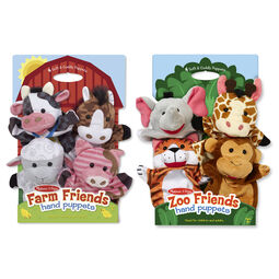 Play Right Plush Hand Puppets Barnyard Friends New 2019 Set of 4