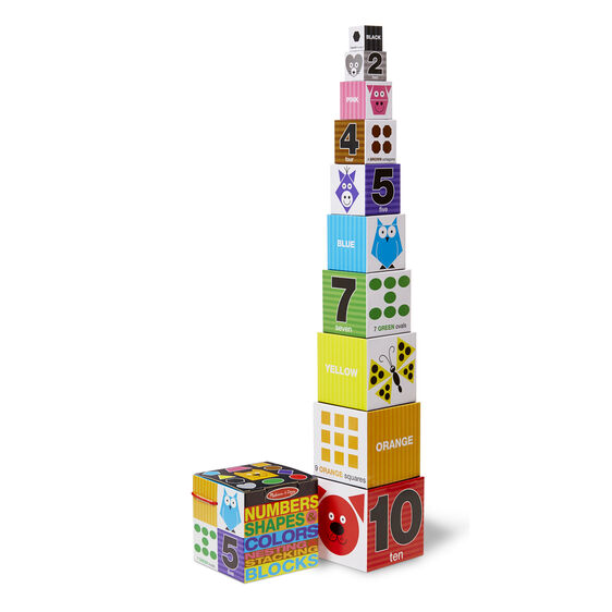 Nesting & Stacking Blocks - Numbers, Shapes, Colors