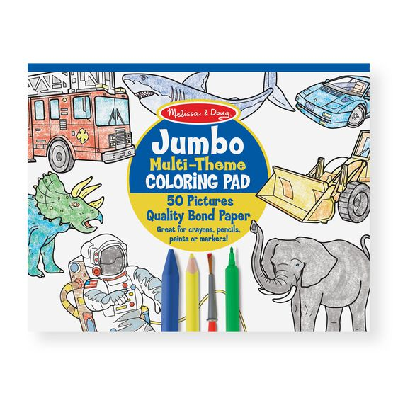 Multi-theme coloring pad cover