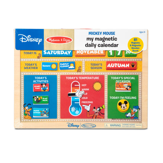 Disney Mickey Mouse My Magnetic Daily Calendar