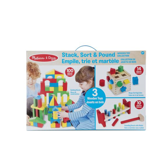 Stack, Sort & Pound Wooden Toy Collection