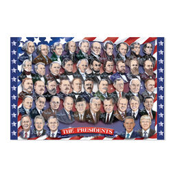 Floor puzzle with all American presidents