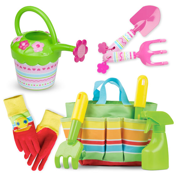 Sunny Patch Stripes & Flowers Gardening Gift Set