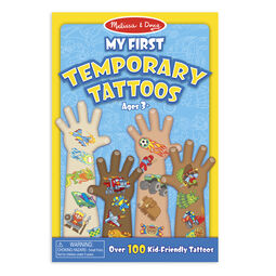 Temporary tattoo booklet