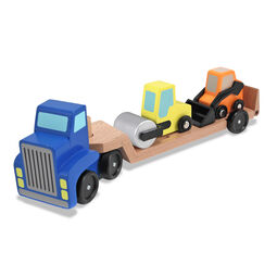 Wooden loader truck with construction vehicles toys