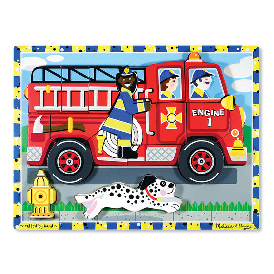 18 piece fire truck chunky puzzle
