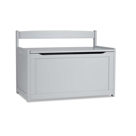 Wooden Toy Chest - Gray