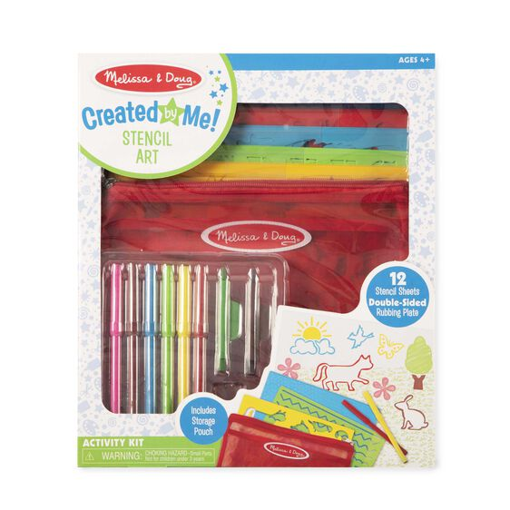 Created By Me Stencil Art Activity Kit Melissa And Doug