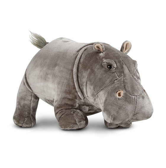 Hippopotamus Lifelike Stuffed Animal Melissa Doug