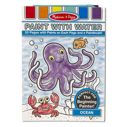 paint with water art pad with paint brush in packaging