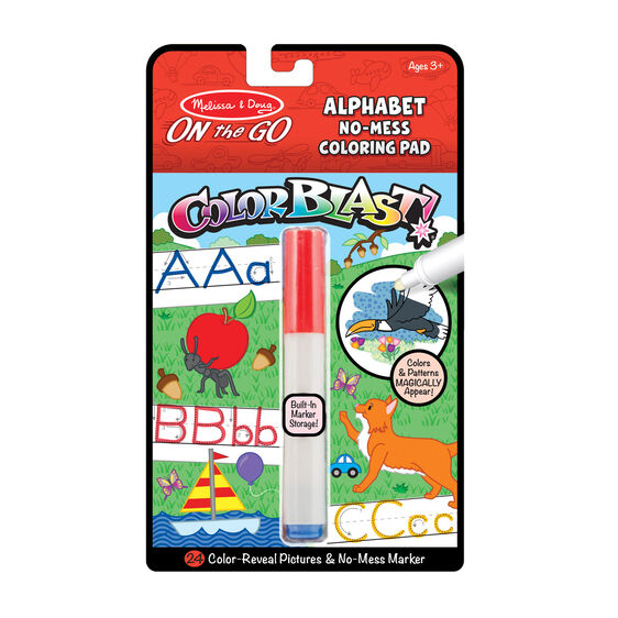 On the Go ColorBlast No-Mess Coloring Pad - Colorblast - Alphabet