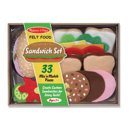 Felt sandwich making set in packaging