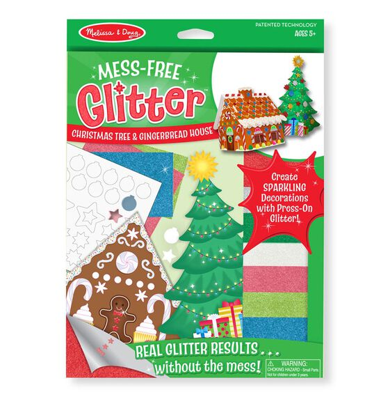 Mess Free Glitter - Christmas Tree & Gingerbread House