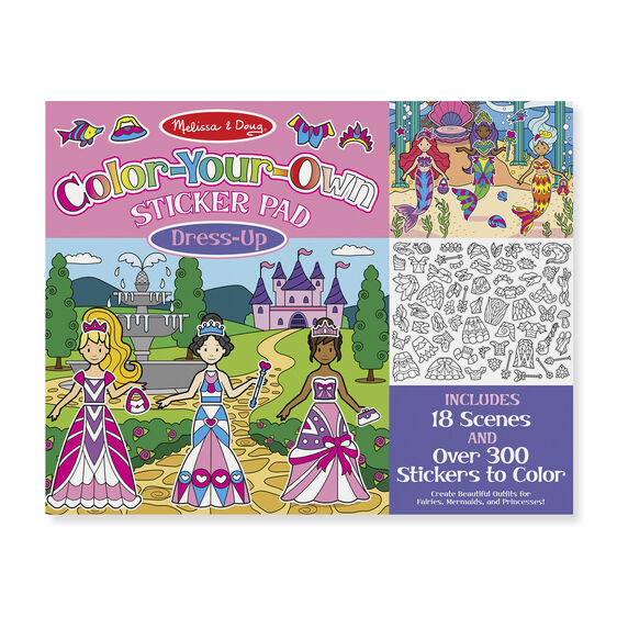 Color-Your-Own Sticker Pad - Dress-Up - Melissa And Doug