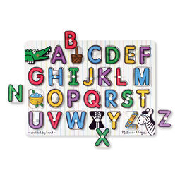 26 piece alphabet peg puzzle