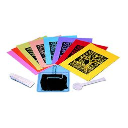 "Scratch Art Subi Block Printing Paper Colors (40 sheets 12"" x 18"")"