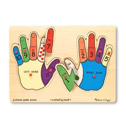 Hands Counting Peg Puzzle