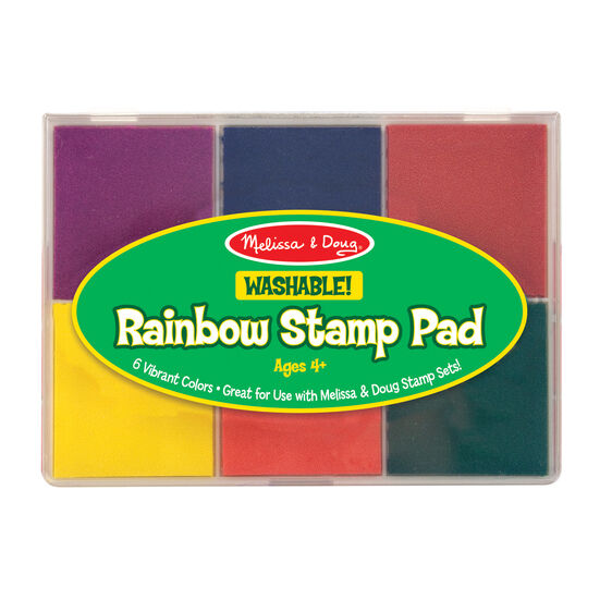 six color stamp pad in packaging
