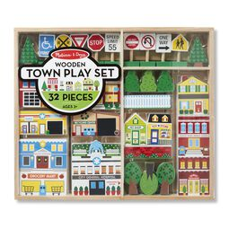 Wooden town pieces