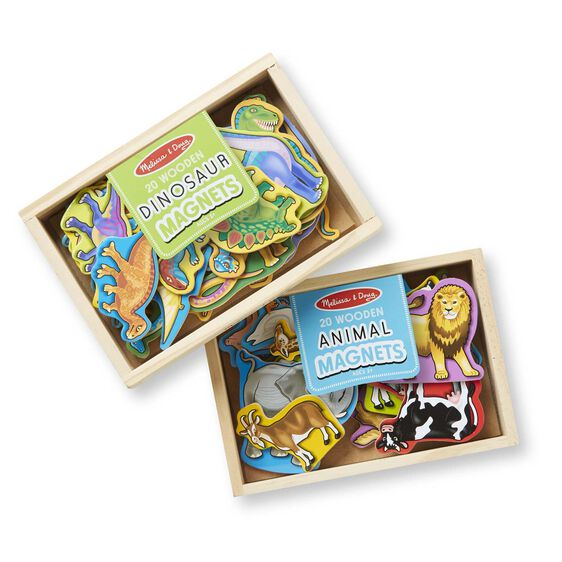 Wooden Magnets Bundle - Animals and Dinosaurs