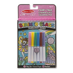 Fairy tale stained glass scenes and markers in packaging