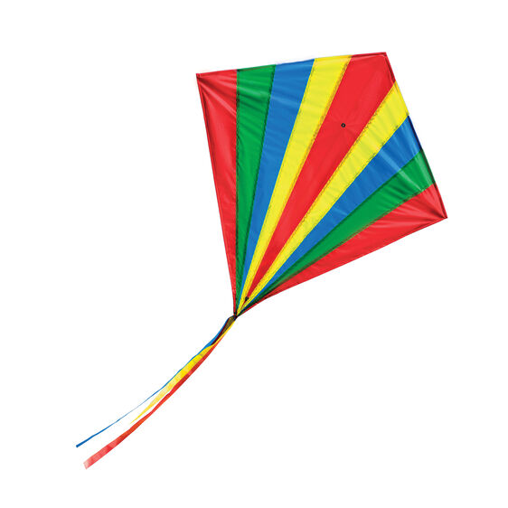 Multi-colored rhombus shaped kite with tails