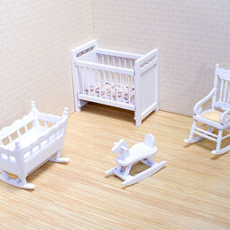 Miniature nursery room furniture