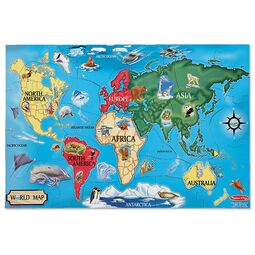 Map toys and geography toys map puzzles themed toys melissa doug world map floor puzzle 33 pieces publicscrutiny Choice Image
