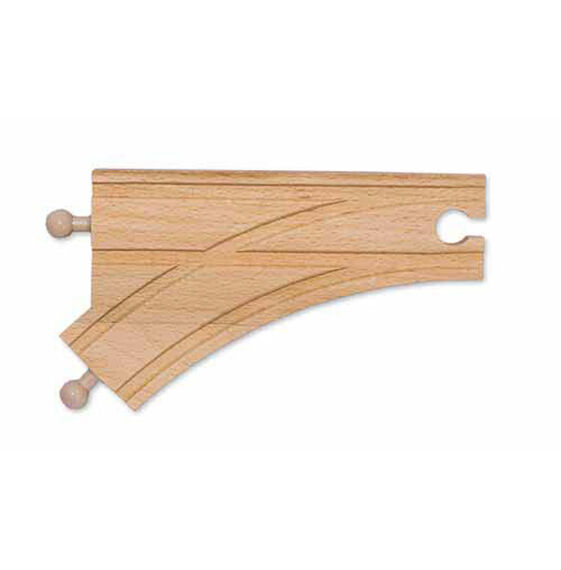 "6"" Wooden Curved Switch Track - Male (6 pack)"