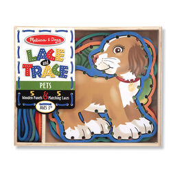 Ropes and pets wooden lacing cards in packaging